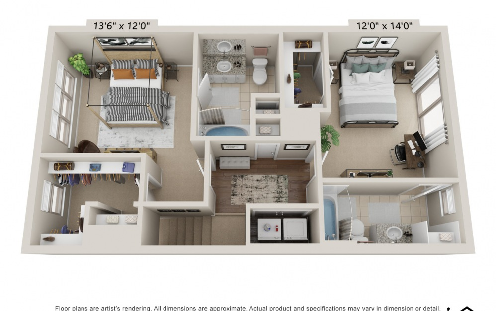 Townhome 2 Bed, 2.5 Bath with Direct Access Garage